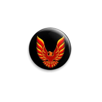 Значок 25мм Firebird black
