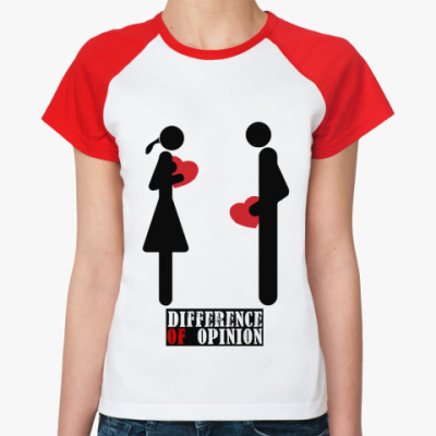 Женская футболка реглан Difference of opinion