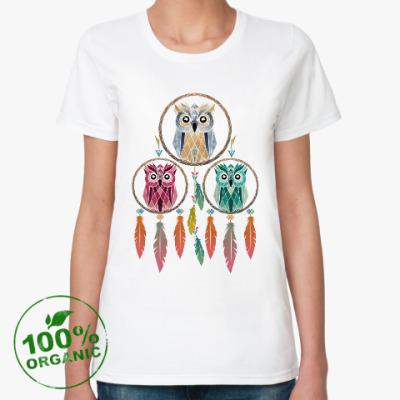 Женская футболка из органик-хлопка Совы