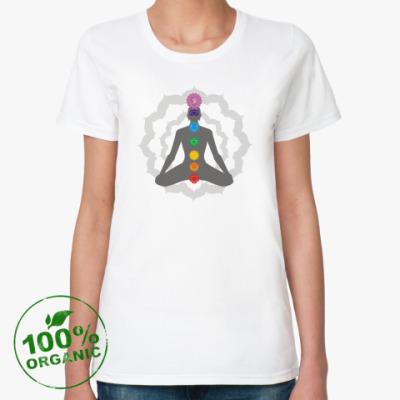 Женская футболка из органик-хлопка Чакры