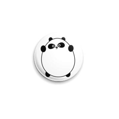 Значок 25мм Ярость сонной панды