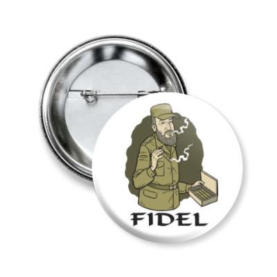 Значок 50мм Fidel