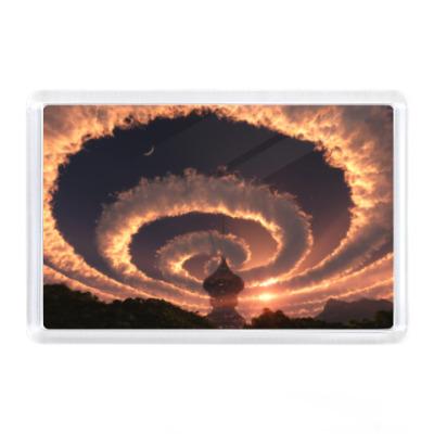 Магнит  Облака над храмом