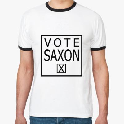 Футболка Ringer-T Vote Saxon