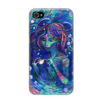 Чехол для iPhone 4/4s Русалка Амфибия Mermaid