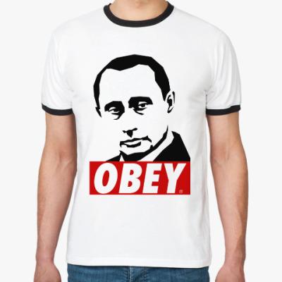Футболка Ringer-T Путин (Стиль Obey)