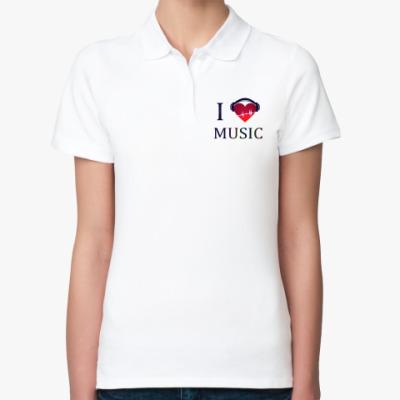 Женская рубашка поло любовь к музыке