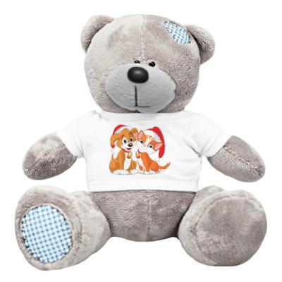 Плюшевый мишка Тедди Два новогодних друга