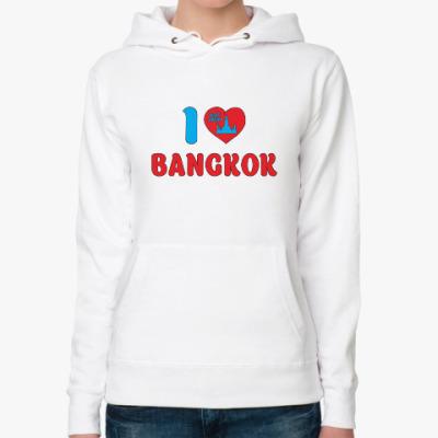 Женская толстовка худи Я люблю Бангкок, я люблю Таиланд!