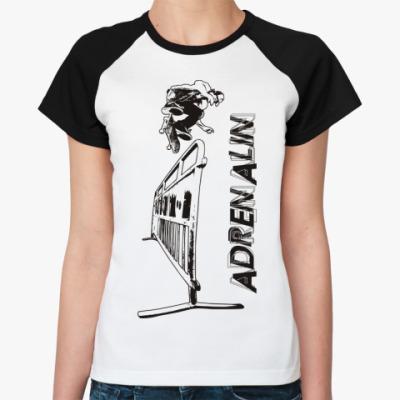 Женская футболка реглан ADRENALIN