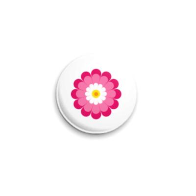 Значок 25мм Flower