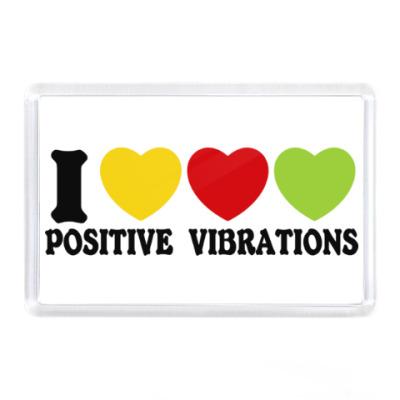 Магнит Люблю позитивные вибрации
