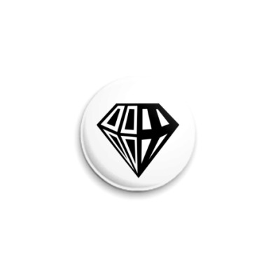 Значок 25мм бриллиант