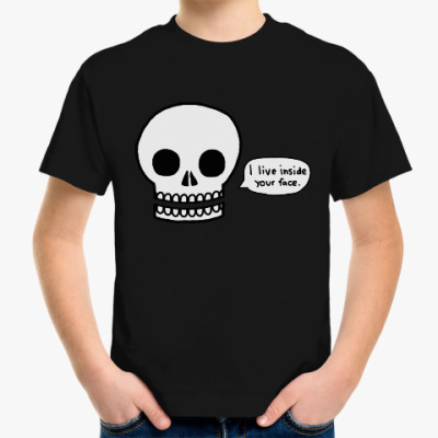 Детская футболка I live inside your face
