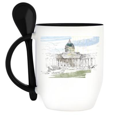 Кружка с ложкой Казанский собор