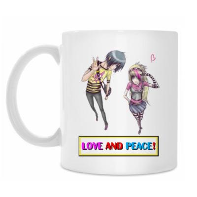 Кружка Love and peace!