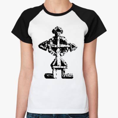 Женская футболка реглан славянский оберег
