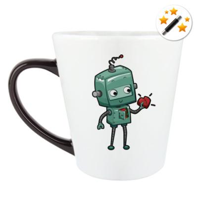 Кружка-хамелеон Робот с сердцем
