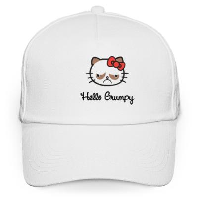 Кепка бейсболка Hello Grumpy Cat