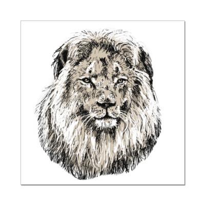 Наклейка (стикер) Лев