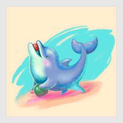 Постер Дельфин - песик