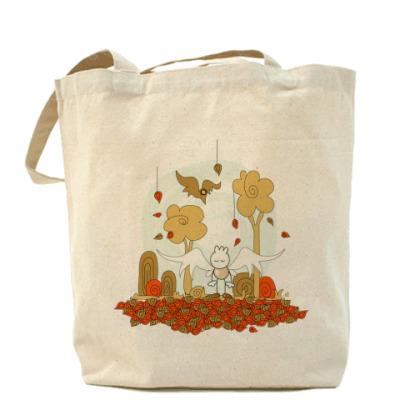 Сумка Осенняя Холщовая сумка