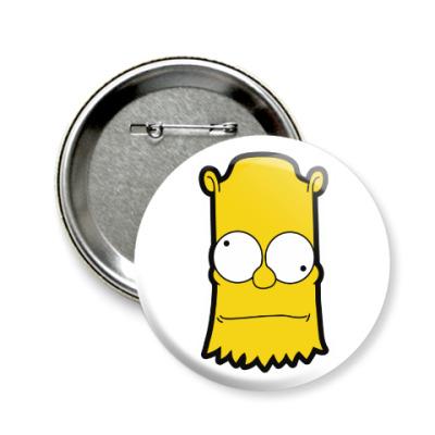 Значок 58мм Crazy Bart
