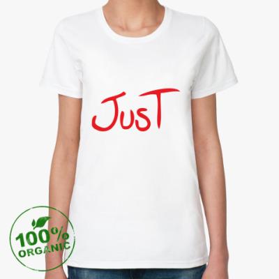 Женская футболка из органик-хлопка  Just Married