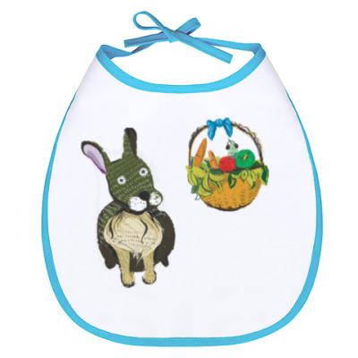 Слюнявчик Плюшевый кролик