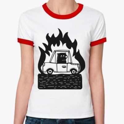 Женская футболка Ringer-T 'Медведь'