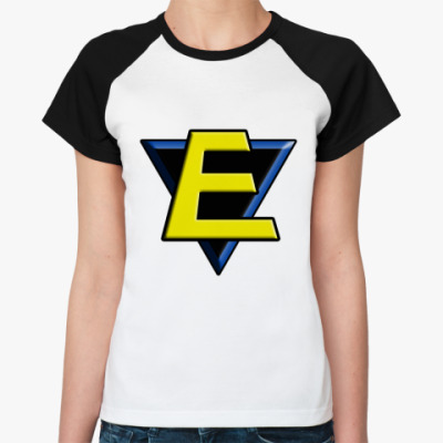 Женская футболка реглан E  Ж()