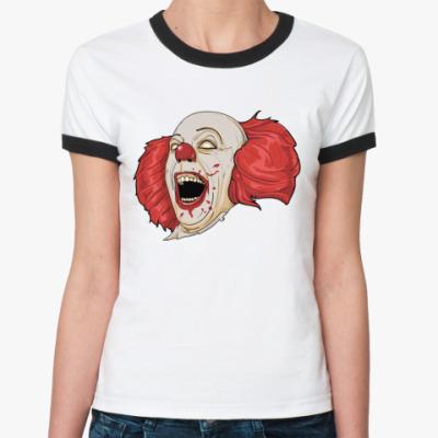 Женская футболка Ringer-T   Mad Clown