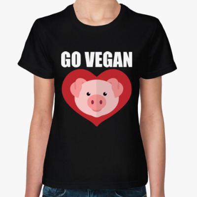 Женская футболка Веган