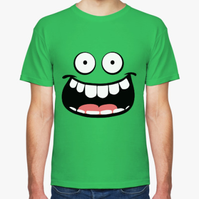 Футболка Green happy face.