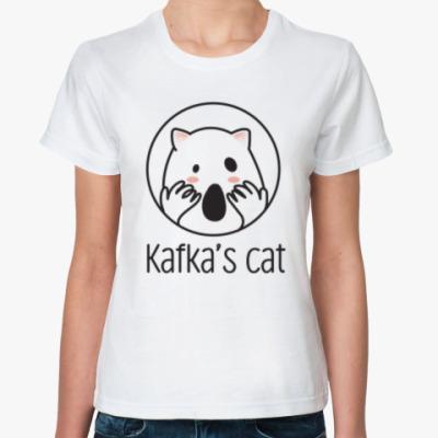 Классическая футболка Kafka's cat