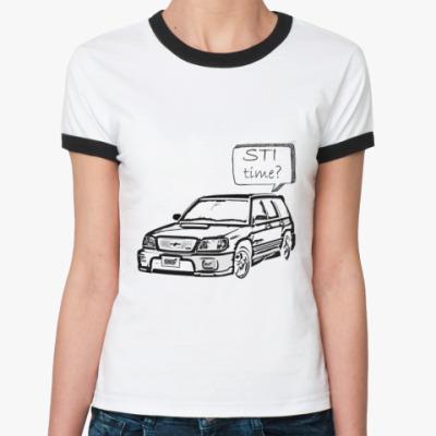 Женская футболка Ringer-T STI Time?