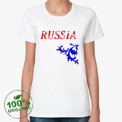 Женская футболка из органик-хлопка Российская Федерация