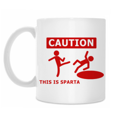 Кружка Caution: this is Sparta