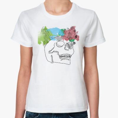 Классическая футболка Мартовский череп