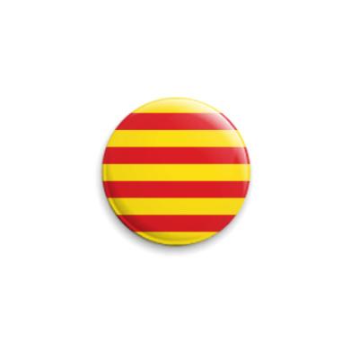 Значок 25мм Флаг Каталонии