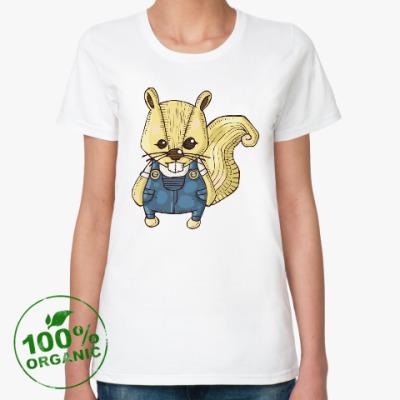 Женская футболка из органик-хлопка Белка