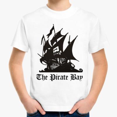 Детская футболка  пират the pirate bay