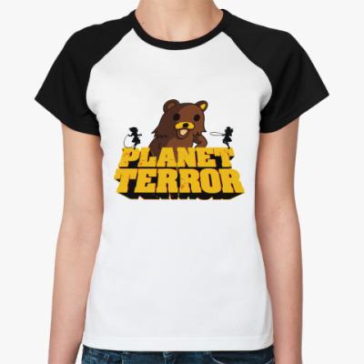 Женская футболка реглан Педобир