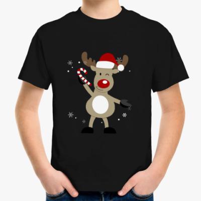 Детская футболка Олененок с конфетой