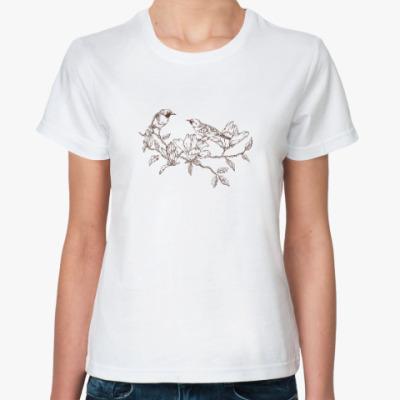 Классическая футболка Vintage Bird Птица Винтаж