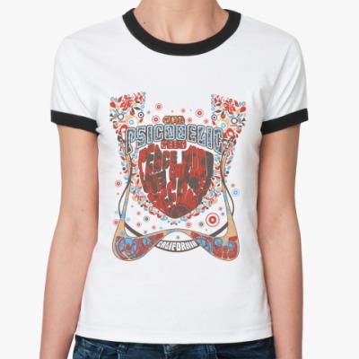 Женская футболка Ringer-T California