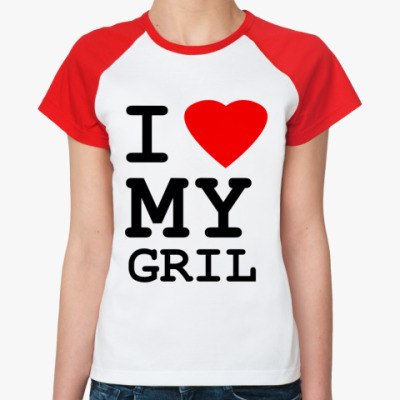 Женская футболка реглан Love Gril
