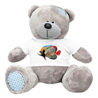 Плюшевый мишка Тедди рыбный день