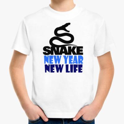 Детская футболка Snake -New Year New Life