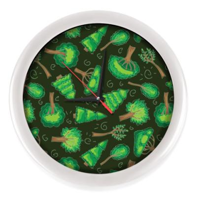 Настенные часы Лес